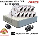 HIKVISION 16CH DS-7116HGHI-F1 MINI Turbo HD 720P DVR + ACTIVE AHD 1 Megapixel High Resolution 36IR BULLET CAMERA 9pcs COMBO