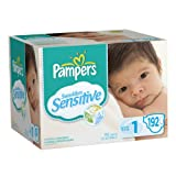 Pampers Swaddlers Sensitive Diapers Economy Pack Plus Size 1, 192 Count