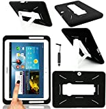 Magic Global Gadgets - BLACK Robot Shock Proof Armor Duty Case Cover For Samsung Galaxy Tab 2 10.1