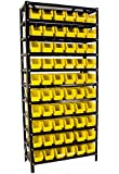 Heavy Duty 60 Bin Parts Rack easily Organize Nuts, Bolts, or Parts, Removable Parts Bins with Dividers