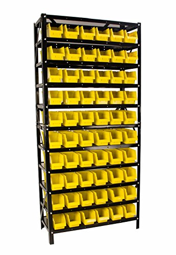 60 Bin Parts Rack easily Organize Nuts, Bolts, or Parts, Removable Parts Bins with Dividers (Warehouse Storage compare prices)