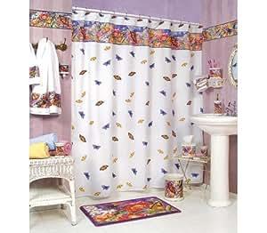 Butterfly bathroom shower curtain bath home decor new for Best home decor on amazon