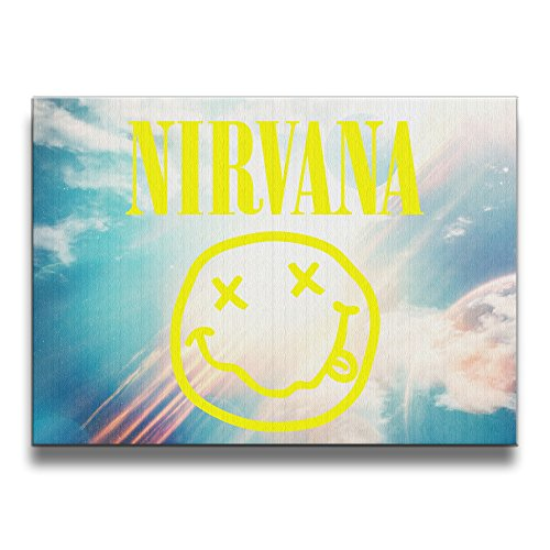 GUC Nirvana Smiley Rock Band Logo Frameless Art Picture Frame Wall Artwork (Irish Fireplace Screen compare prices)
