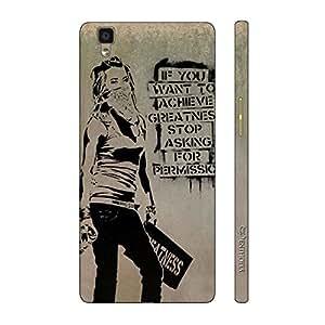 Enthopia Designer Hardshell Case BREAK FREE Back Cover for Oppo R7s