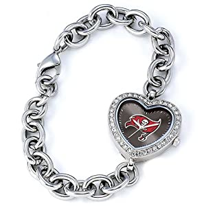Ladies NFL Tampa Bay Buccaneers Heart Watch by Jewelry Adviser Nfl Watches