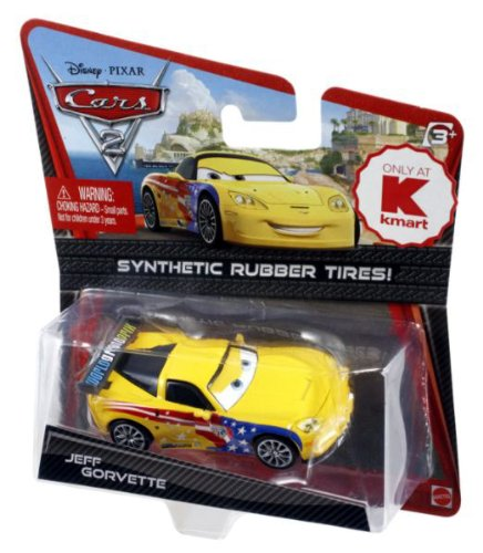 Disney / Pixar CARS 2 Movie Exclusive 155 Die Cast Car with Synthetic Rubber Tires Jeff Gorvette