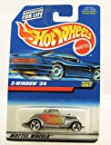 Hot Wheels - 1997 - 3 - Window 1934 - Collector #257 - Silver & Flames Paint - Limited Edition - Collectible