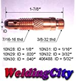 """2 TIG Welding Torch Collet Body 10N32 3/32"""" for Torch 17, 18 and 26"""