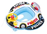 【ハンドル付き】 足入れ穴・ひも付き おまわりさん ベビーボート (パトカー) (約70×75×高さ4cm) BHN427