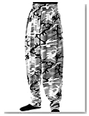 Baggy Gym Workout Pants-Gray Camoflauge