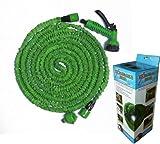 伸びるホース (緑) 2.5m ⇒ 7.5 m ガーデンホース 日本仕様 二重被膜Aクラスインナーチューブ