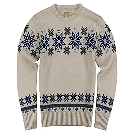 Mens Knitted Fairisle Christmas Jumper