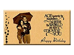 Age is Merely the Number - Unique Engraved Birthday Personalized Gift (7x4)