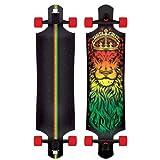 Santa Cruz Lion God Rasta Drop Thru Cruzer Freeride Longboard Deck Complete 40