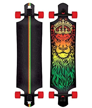 "Santa Cruz Lion God Rasta Drop Thru Cruzer Freeride Longboard Deck 40"""