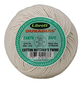 Librett Durables Butchers Twine, Cotton, 370-Feet