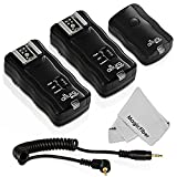 (2 Trigger Pack) Altura Photo Wireless Flash Trigger for CANON w/ Remote Shutter (Canon EOS 70D, 60D, SL1, Rebel T5i, T4i, T3i, T2i, T1i, T5, T3, XT, XSi, XSi DSLR Cameras)