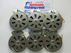 6 Mechanical Fisher's Yo Yo Fishing Reels -Package of 1/2 Dozen- Yoyo Fish Trap -(FLAT TRIGGER MODEL)