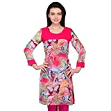 Inborn Multi-Coloured Butterfly Printed Georgette Kurti for Women