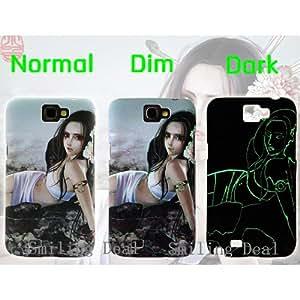Luminous Glow in Dark Case Samsung Galaxy N7100 Note 2 Beautiful Girl Design Case (7)