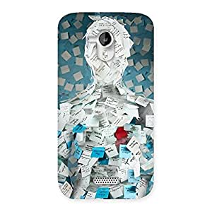 Cute Office Paper Back Case Cover for Micromax Canvas HD A116