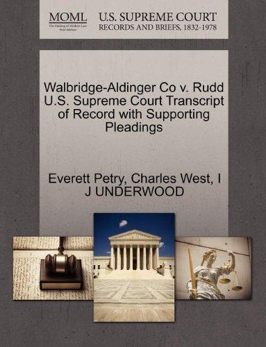 Walbridge-Aldinger Co v. Rudd U.S. Supreme Court Transcript of Record with Supporting Pleadings