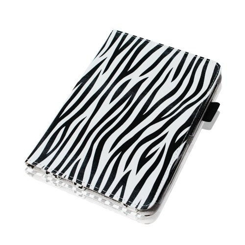 "Fintie (Zebra) Slim Fit Leather Case Cover Auto Sleep/Wake for Kindle Fire HD 7"" Tablet (will only fit Kindle Fire HD 7"")"