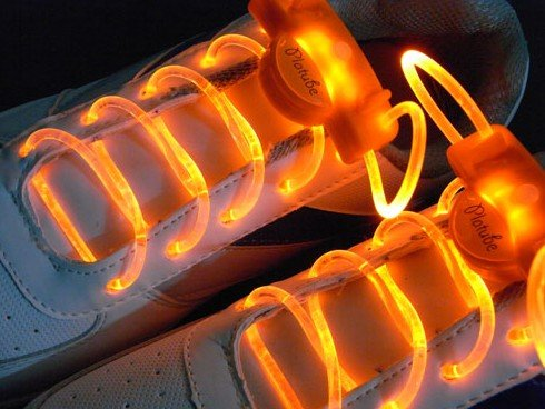 futuristic clothing, rave clothing, Hoter NEW Magically LED Flashing Light Up Shoe-laces lighting