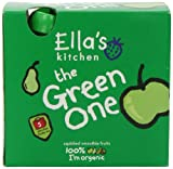 Ella's Kitchen The Green One Organic Smoothie Fruits Multipack 5 x 90 g (Pack of 6, Total 30 Packets)
