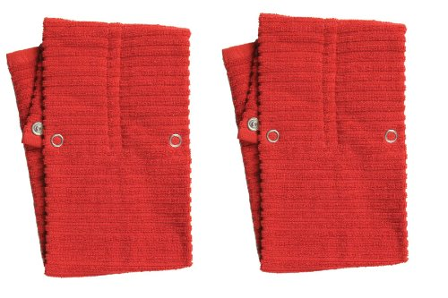 Now Designs Hang-Up Tea Towel, Red, Set Of 2
