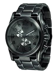 Vestal Men's DEV008 De Novo All Gunmetal Chronograph Watch