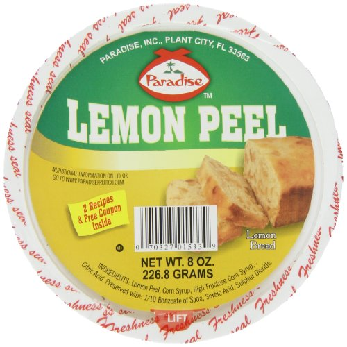 Paradise Diced Lemon Peel, 8 Ounce