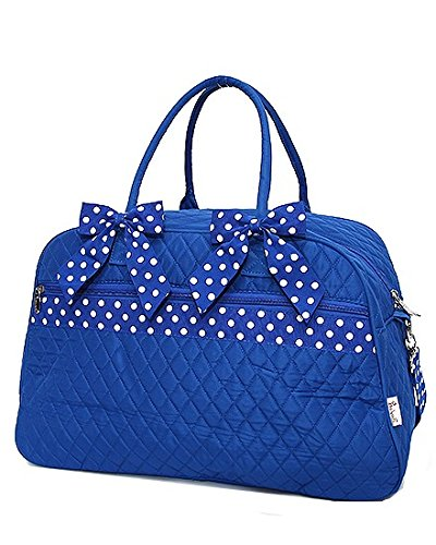 Quilted Solid Large Travel Bag (Royal)