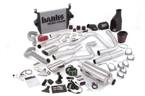 Banks Power 46518 PowerPack System; Performance System; Incl. EconoMind Tuner/Banks iQ/Banks Ram-Air Intake/High-Ram Intake Manif/Techni-Cooler Intercooler/Monster Exhaust; Single;