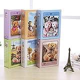 1105 cartone simpatico orsacchiotto bambini album (blu, viola, rosa, bianco, giallo, verde) , Blu