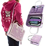Ultimate Addons Girls Travel Vinyl PU Handbag Storage Case for Leapfrog LeapPad Ultra (Violet)