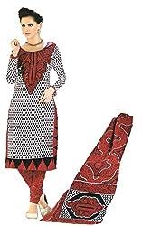 Sanjeeban Fashion Studio Women's Cotton Dress Material (FE_86_Multi-Coloured_Free Size)