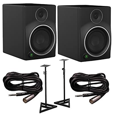 Mackie MR6mk3 Studio Monitors Pair with Cables and Stands Bundle from Mackie