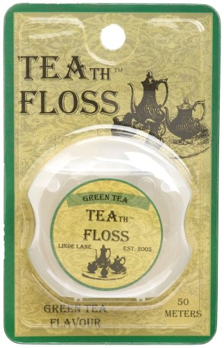 Linde Lane Teath Floss Green Tea 0 8-Ounce Packages Pack of 6B001D35IXM