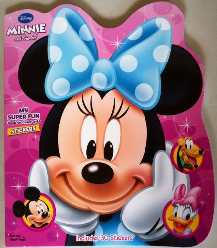 Disney Minnie and Friends Die-Cut Super Fun Coloring Book 80Pages with 30 Stickers - 1