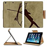 Luxlady Premium Apple iPad Air (Fifth Generation) Generation Flip Case Prehistoric representation of a warrior Digital illustration IMAGE 35766227 Pu Leather Card Holder Carrying
