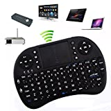 Rii® 2.4GHz Mini Wireless Touchpad Keyboard With Mouse For PC/PAD/360XBox/PS3/Google Android TV Box/HTPC/IPTV,(Control Distance up to 15M),UK Layout w/