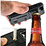 ZVE® Multifunctional Cigarette Lighter Cover for iPhone 5 Built-in Cigarette Lighter/bottle Opener/ Camera Stable Tripod Case (black)
