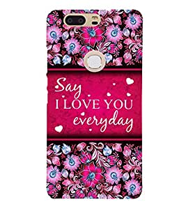 I Love Everyday Cute Fashion 3D Hard Polycarbonate Designer Back Case Cover for Huawei Honor V8