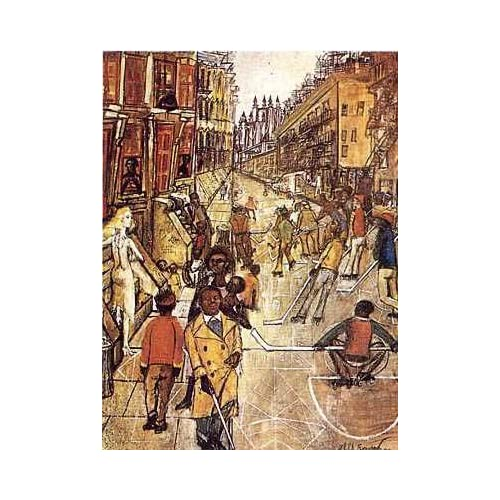 Amazon.com: Sunny Side of the Street by Philip Evergood. Size 18.00 X
