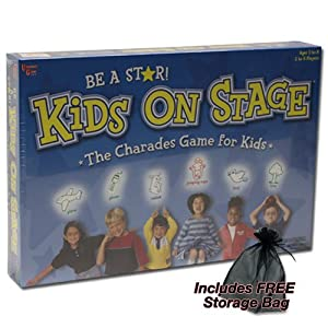Kids On Stage The Charades Game for Kids Plus FREE Storage Bag