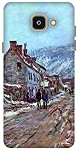 The Racoon Grip Straße nach Vétheuil in Winter hard plastic printed back case / cover for Samsung Galaxy A5 (2016)