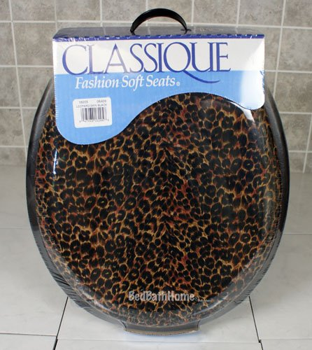 black padded toilet seat. Leopard Skin and Black Padded Toilet Seat Order for  15 99 Ginsey