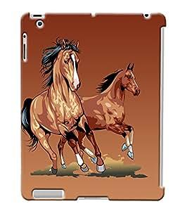 Fuson Horses Back Case Cover for APPLE IPAD 2 - D3769
