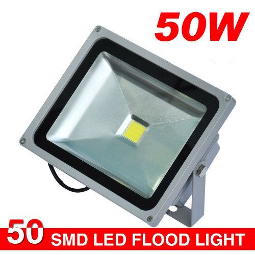 Wonenice 50W Smd Outdoor Led Ip65 Waterproof Floodlights Flood Lights Outdoor White